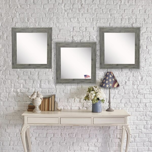 Orvis Barnwood Accent Mirror (Set of 3) by Union Rustic