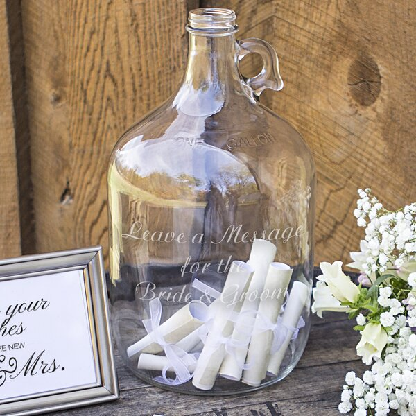 Wedding Wishes in a Bottle Guest Book by Cathys Concepts
