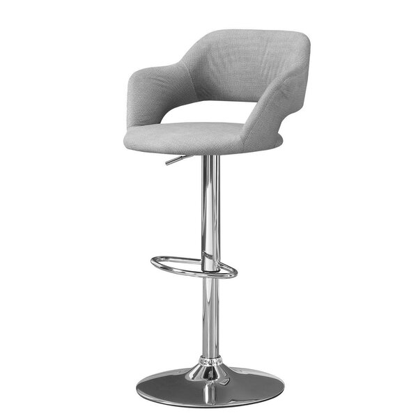 Crick Adjustable Height Swivel Bar Stool by George Oliver
