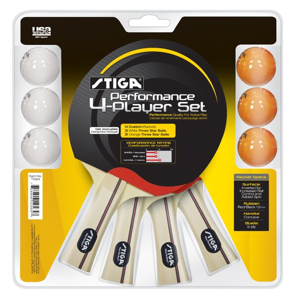 Performance 4 Player Complete Game Set by StigaPerformance 4 Player Complete Game Set by Stiga