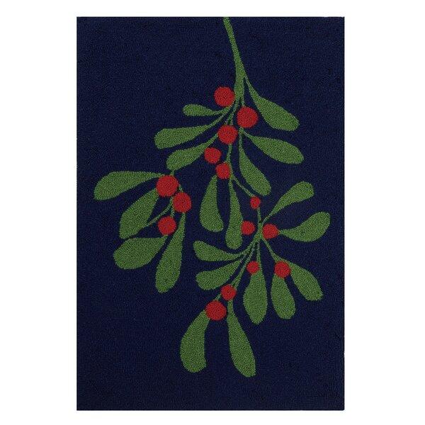 Carmelita Wool Black/Green Area Rug by The Holiday Aisle