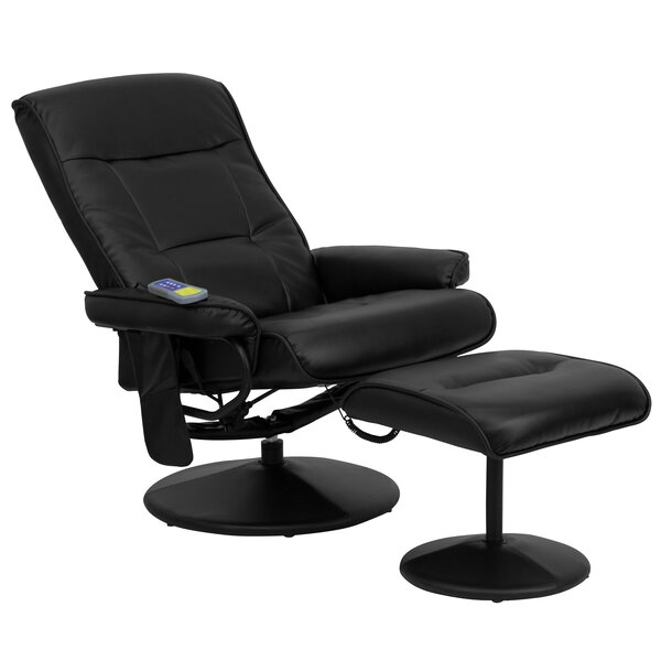 Heated Reclining Massage Chair & Ottoman by Red Barrel Studio