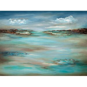 Abstract Shore Painting Print on Canvas by PTM Images