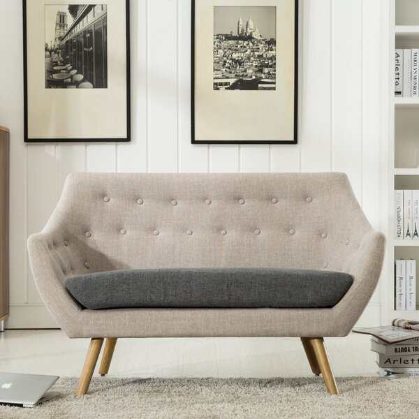 Shop The Best Selection Of Westford  Dual Tone Tufted Loveseat by George Oliver by George Oliver