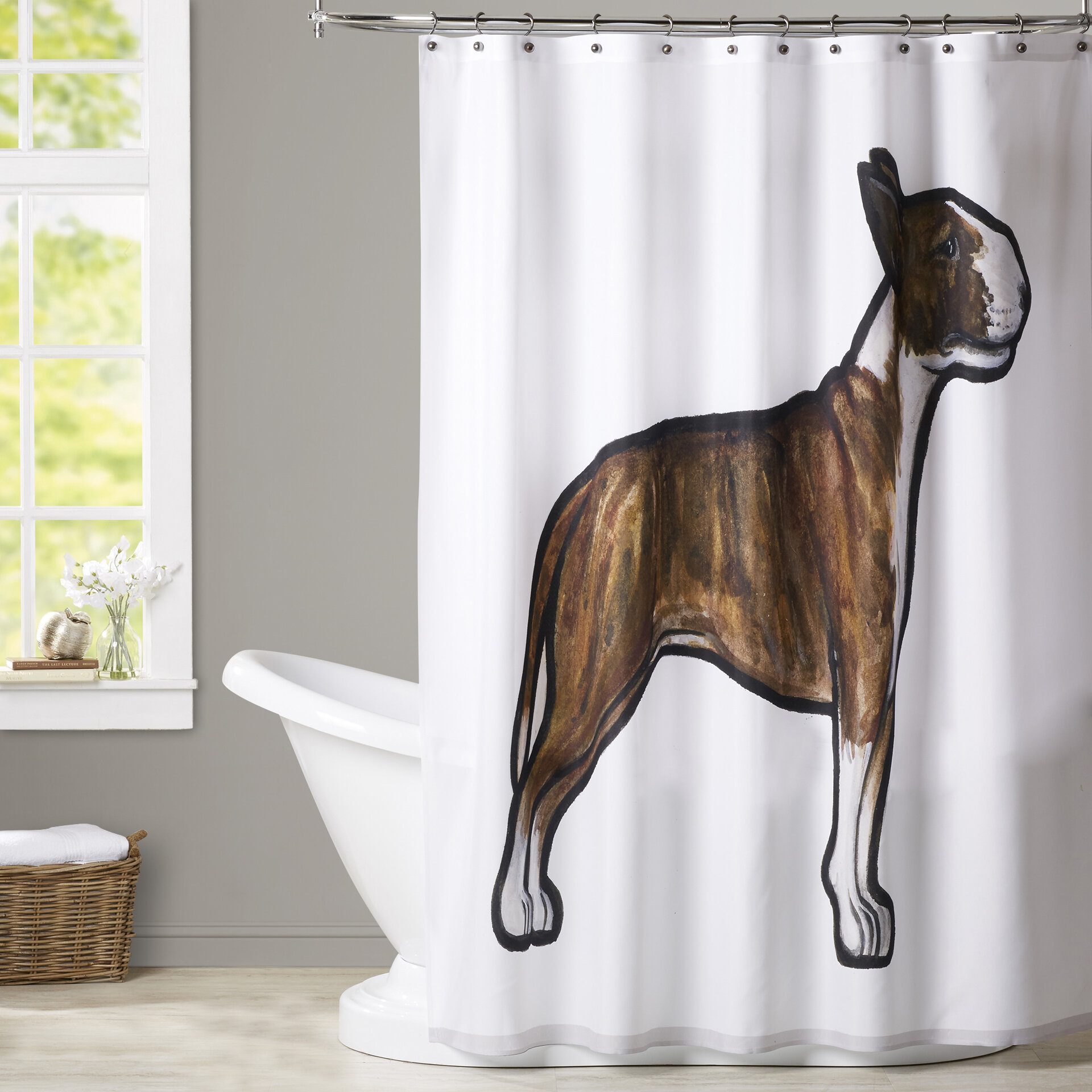Brayden Studio Spiro English Bulldog 3 Shower Curtain