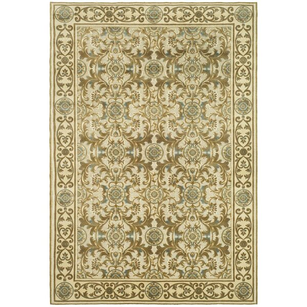 Patrick Light Dark Creme Area Rug by Charlton Home