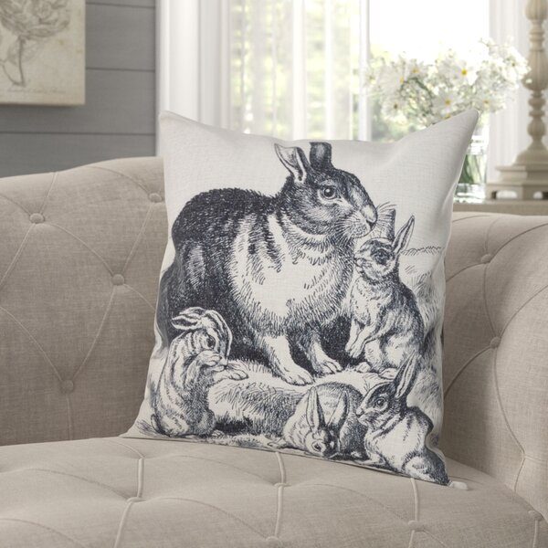 Wykoff Rabbits Throw Pillow by Gracie Oaks