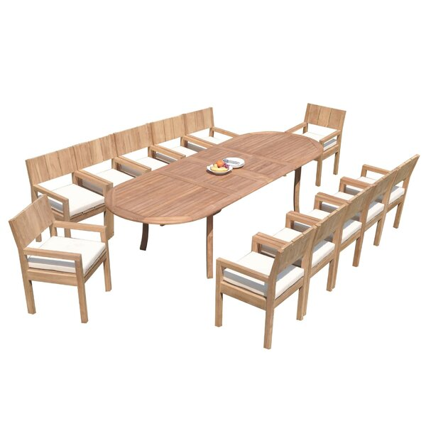 Sibley 13 Piece Teak Dining Set by Rosecliff Heights