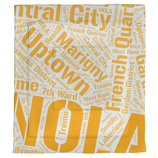 New Orleans, Louisiana Single Reversible Comforter