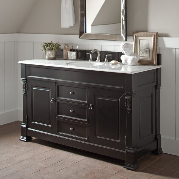 Penelope 60 Single Burnished Mahogany Bathroom Vanity Set with Drawers by Darby Home Co