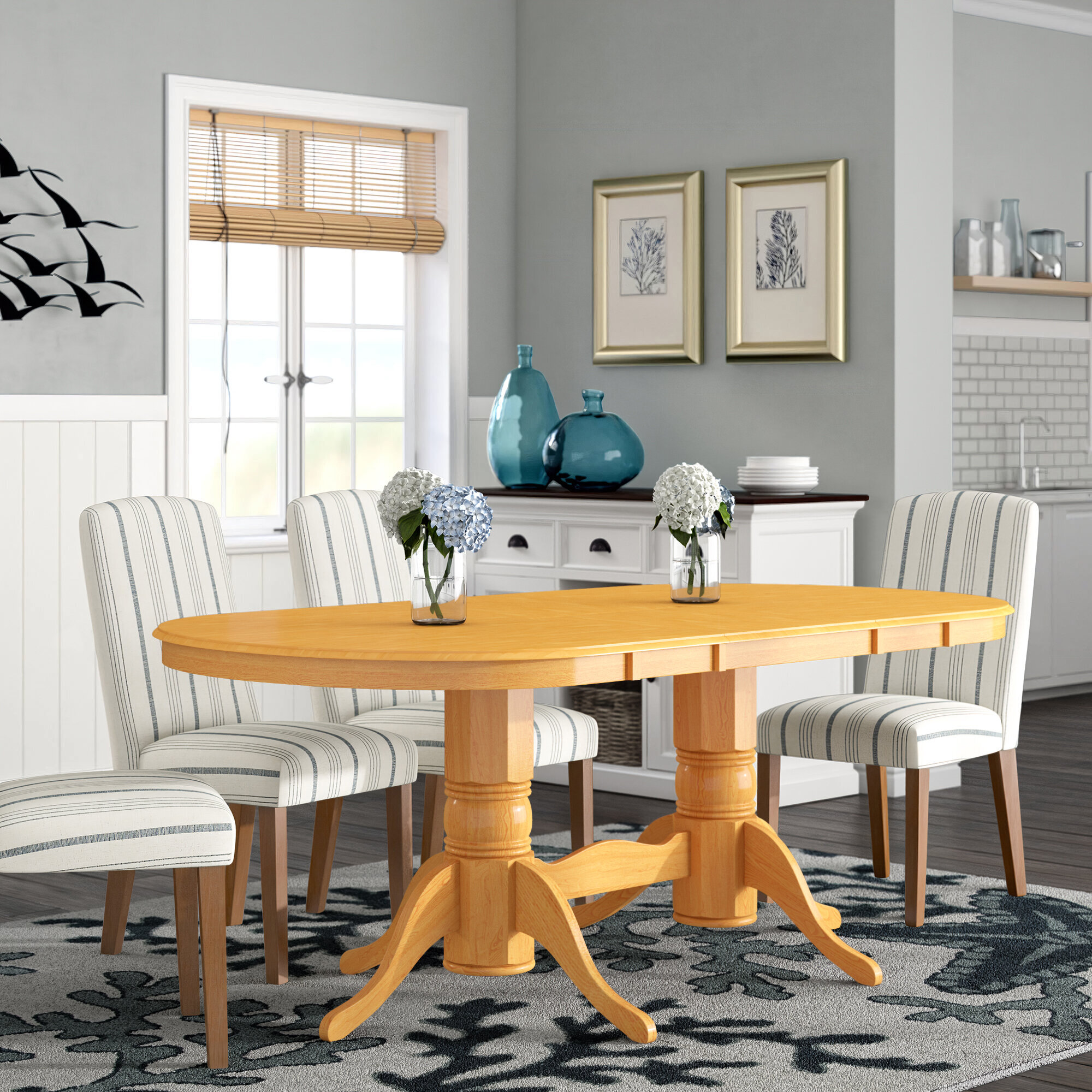 Varela Oval Solid Wood Dining Table