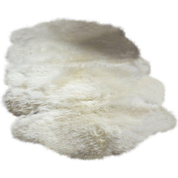 Machin Handmade Shag Sheepskin Ivory Area Rug by Union Rustic