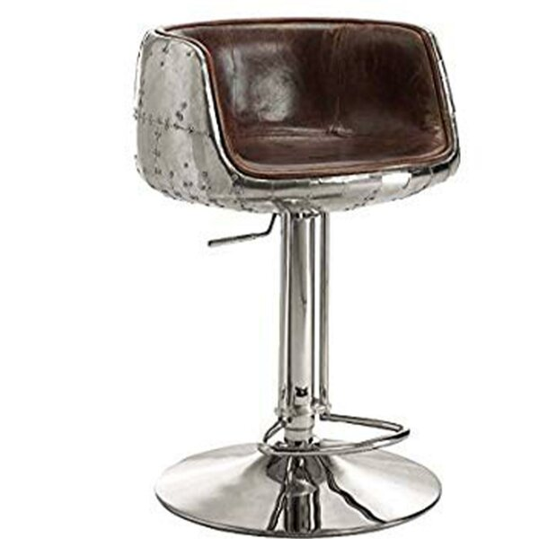 Aldora Swivel Upholstered Adjustable Height Bar Stool by 17 Stories 17 Stories