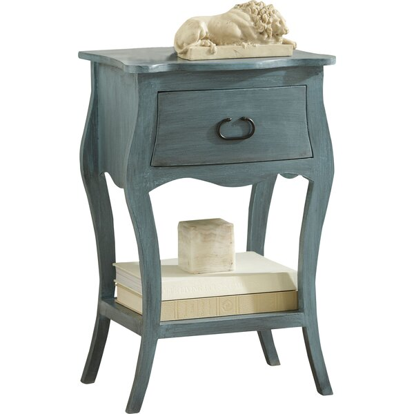 Alaya 1 Drawer Nightstand by Charlton Home