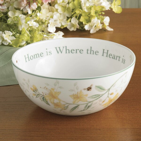 Butterfly Meadow 38 oz. Sentiment Salad Bowl by Lenox