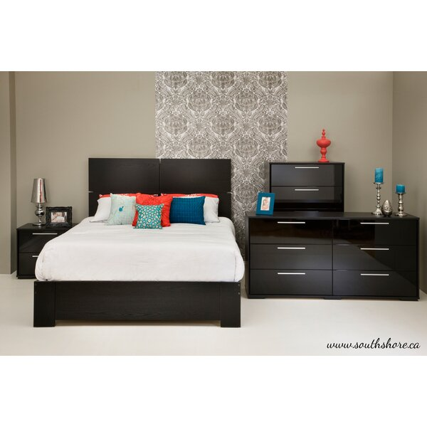 Mikka Queen Platform Configurable Bedroom Set by South Shore