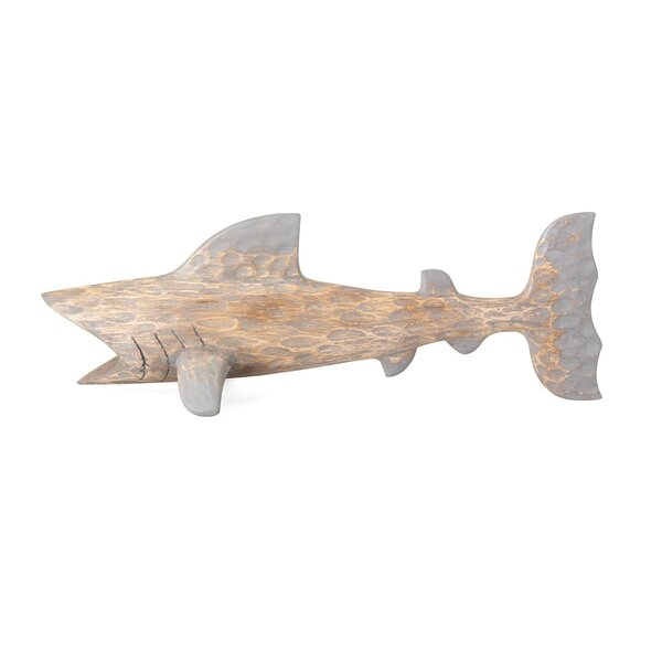 McMahon Small Carved Wood Shark by Breakwater Bay