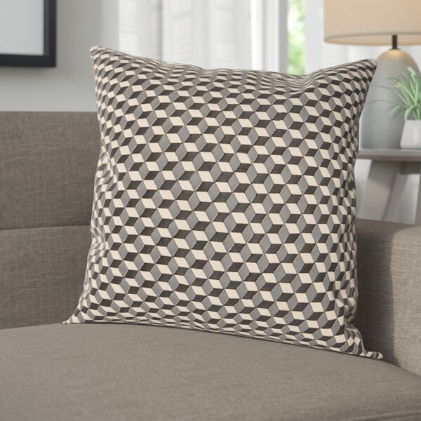 Hacienda Woven Cubes Throw Pillow by Corrigan Studio