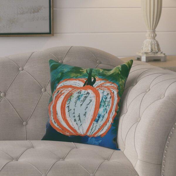 Ames Artistic Pumpkin Outdoor Throw Pillow by August Grove