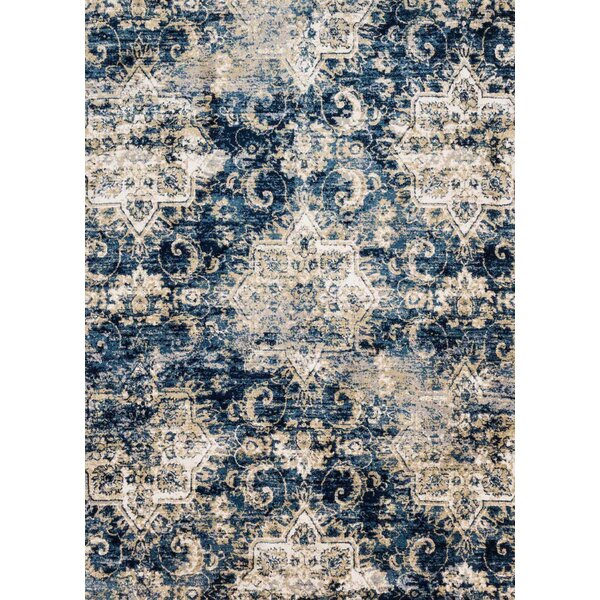 Navy/Ivory Area Rug by Birch Lane™