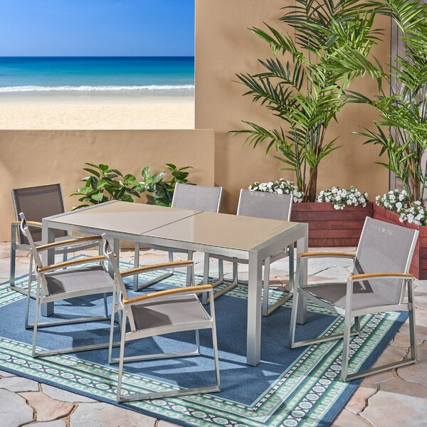 Bollitree Outdoor 7 Piece Dining Set by Ivy Bronx