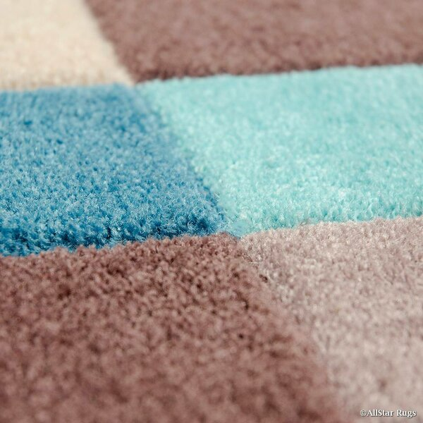 Handmade Blue Area Rug by AllStar Rugs