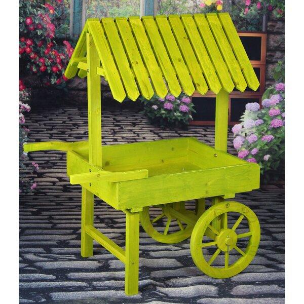 Wood Wheelbarrow Planter by Gardenised