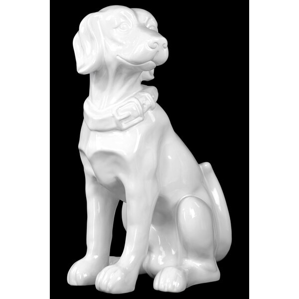 Zena Sitting Labrador Dog Figurine by Charlton Home
