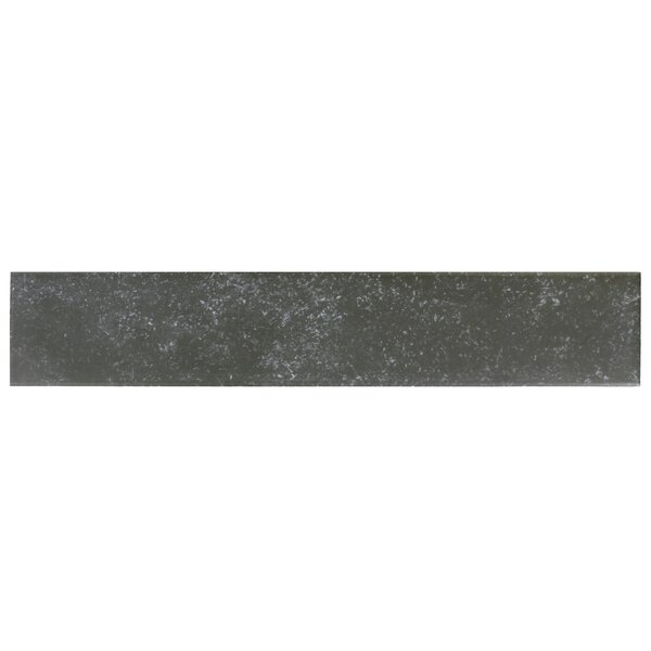Delos 3.13 x 17.38 Porcelain Field Tile in Black by EliteTile