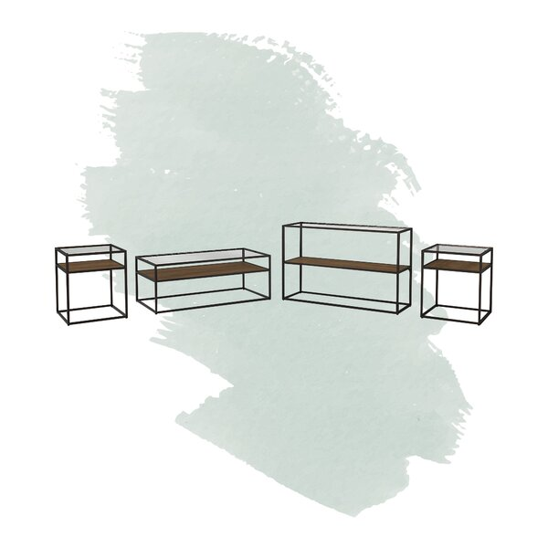 Hartley 4 Piece Coffee Table Set By Foundstone