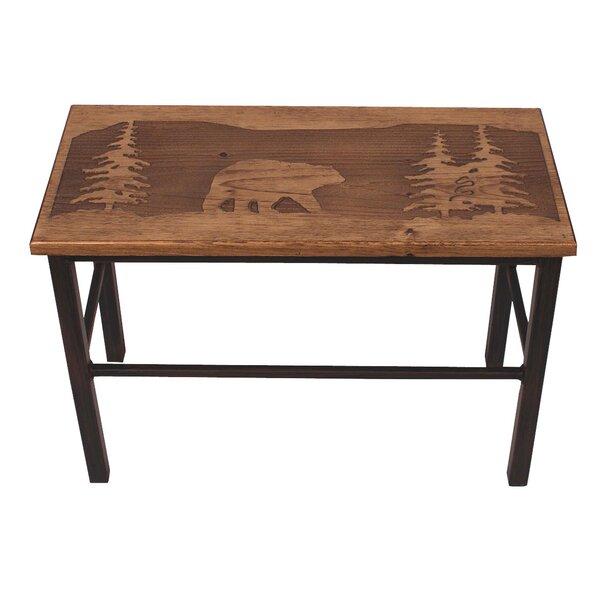 Hardwick Bear Scene Wood Bench by Loon Peak