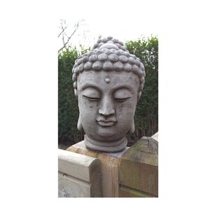Buddha Head Stone Garden Statue