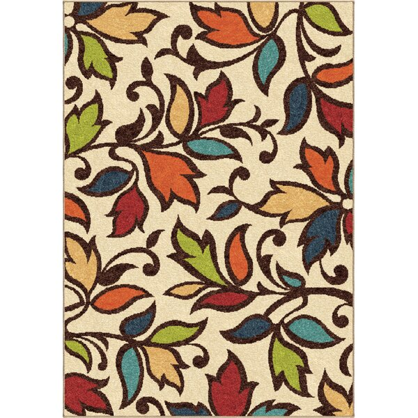 Bedford Cream Indoor/Outdoor Area Rug by Threadbind