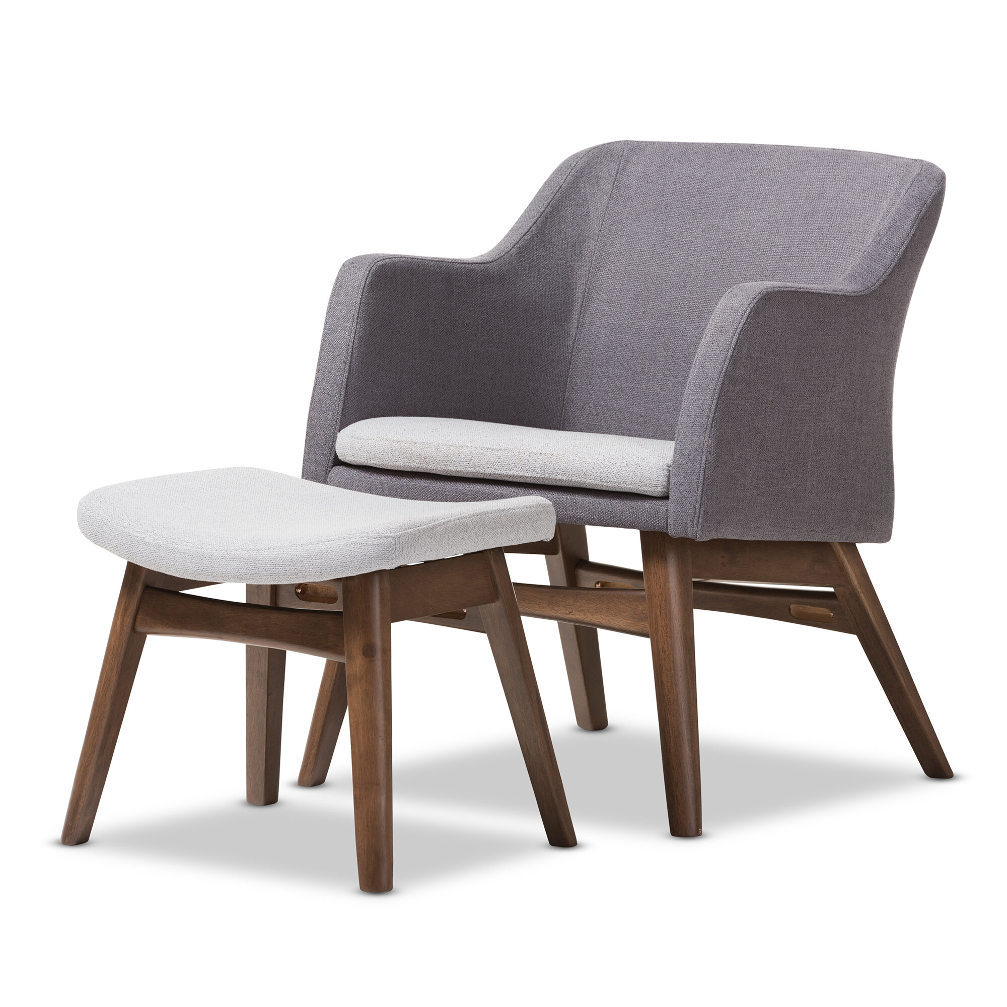Wholesale Interiors Victoria Mid-Century Modern Lounge Chair and Ottoman u0026 Reviews | Wayfair  sc 1 st  Wayfair & Wholesale Interiors Victoria Mid-Century Modern Lounge Chair and ...