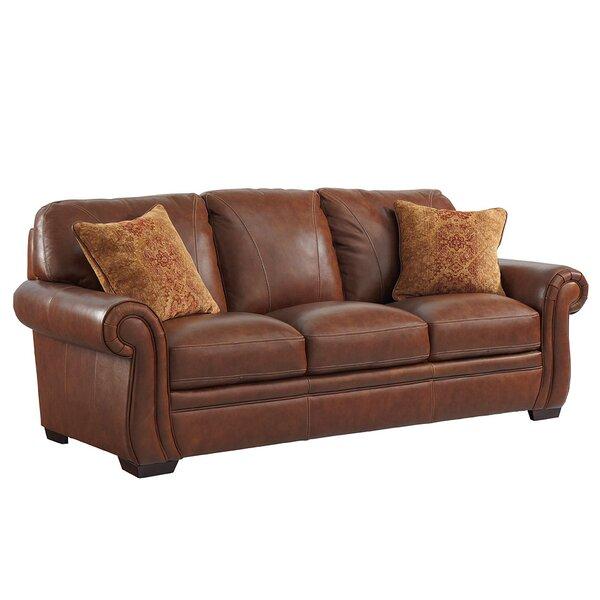 Gypsum Leather Sofa by Loon Peak