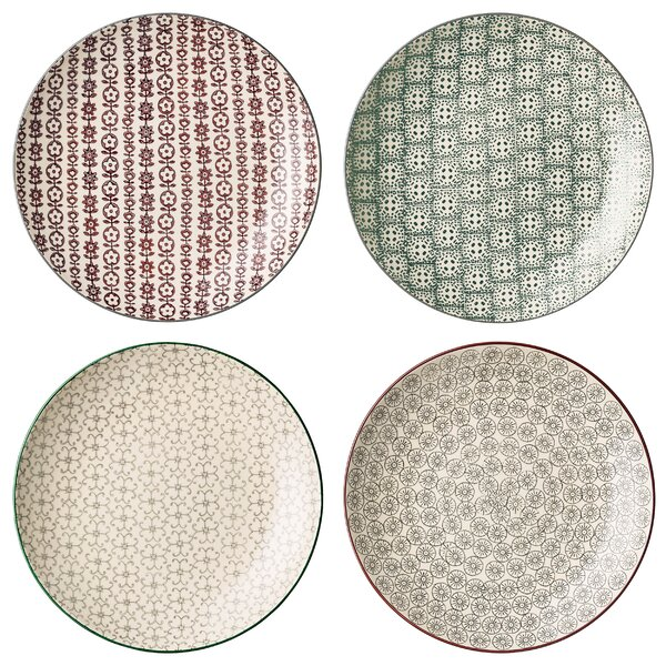 Prejean 10 Ceramic Dinner plate 4 Piece Set by Bungalow Rose