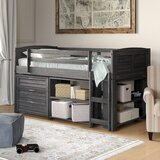 Evan Modern Twin Bed with Drawers and Bookcase byBirch Lane™ Heritage