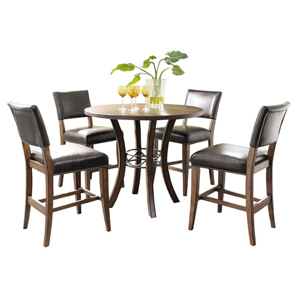 Royalton 5 Piece Counter Height Dining Set by Red Barrel Studio