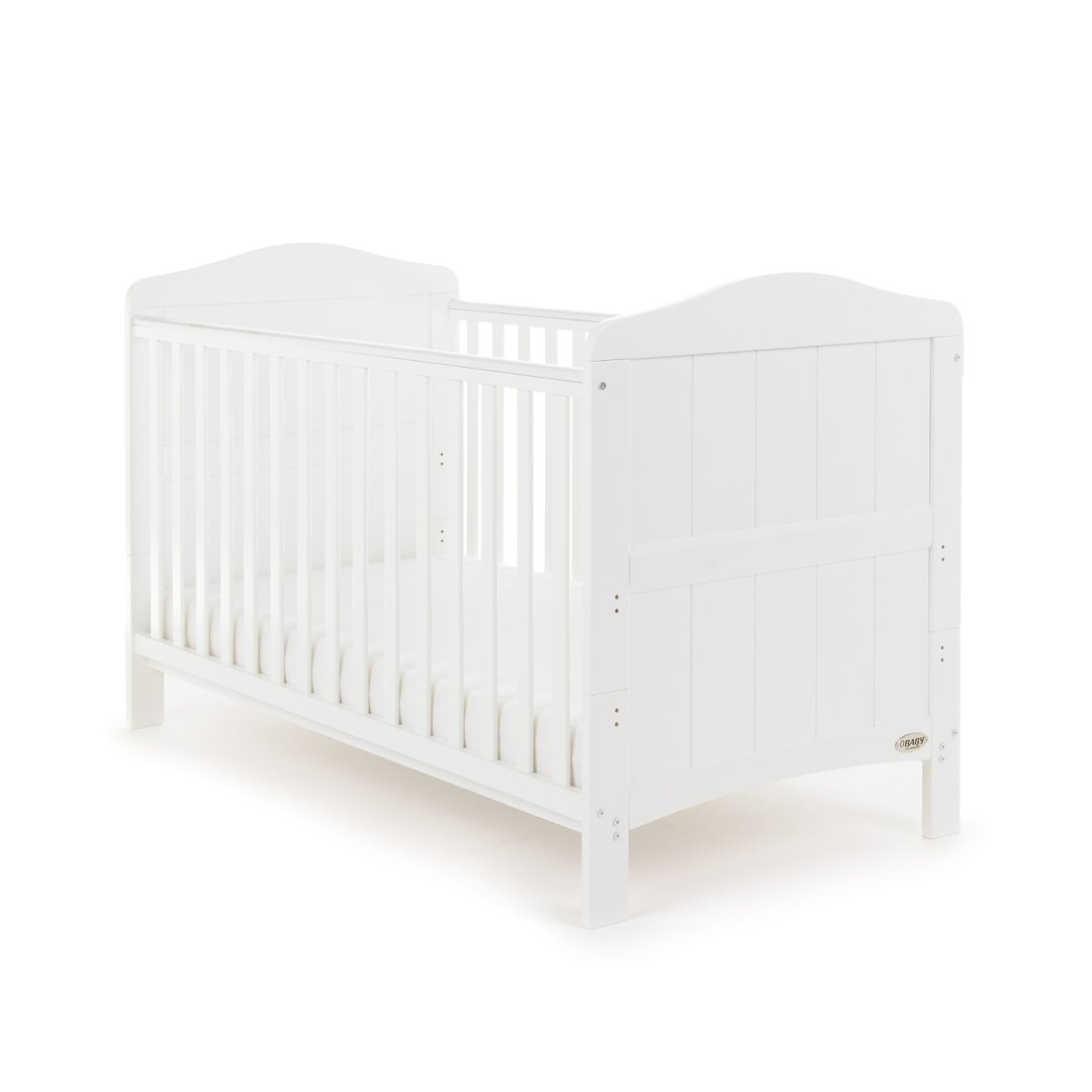 Obaby Whitby Baby Cot Bed - White