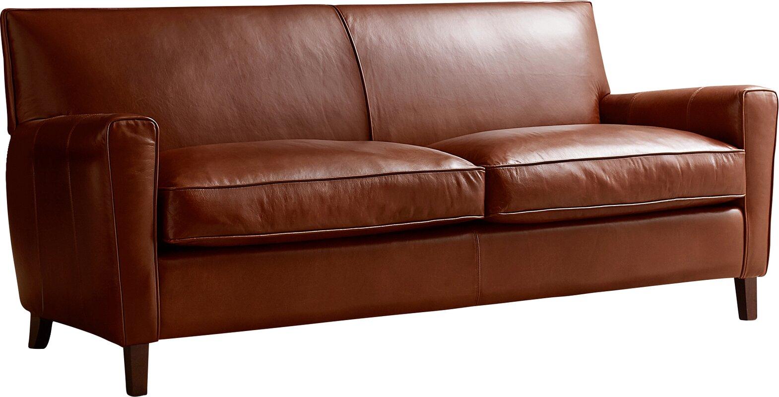 Allmodern Custom Upholstery Foster Leather Sofa Amp Reviews