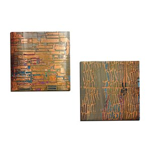 Counter Glow I A by Douglas 2 Piece Painting Print on Wrapped Canvas Set by Portfolio Canvas Decor
