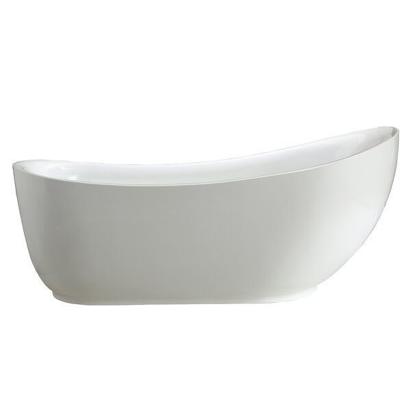 Everlie 71 x 35 Freestanding Soaking Bathtub by Vinnova