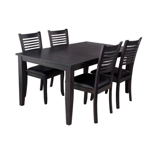 Aden 5 Piece Solid Wood Dining Set by TTP Furnish TTP Furnish