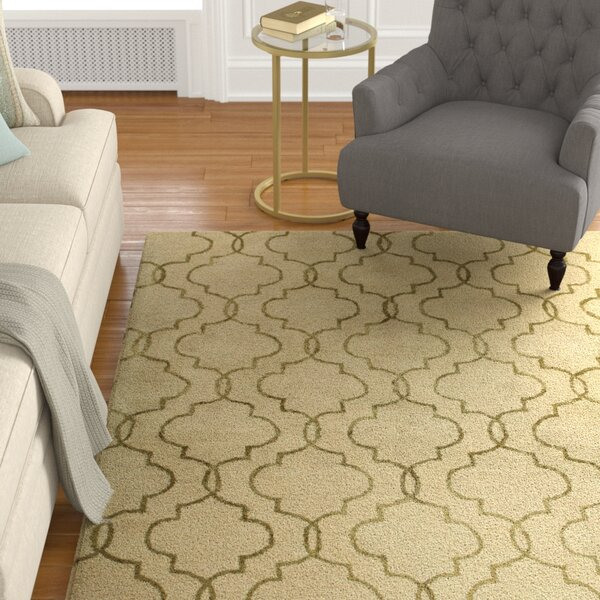 Hildebrandt Hand-Tufted Ivory Area Rug by Alcott Hill