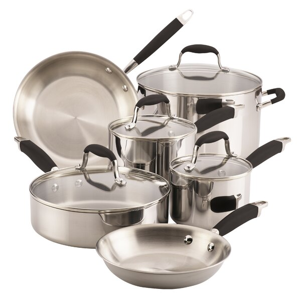 Onyx 10 Piece Stainless Steel Cookware Set by Anolon