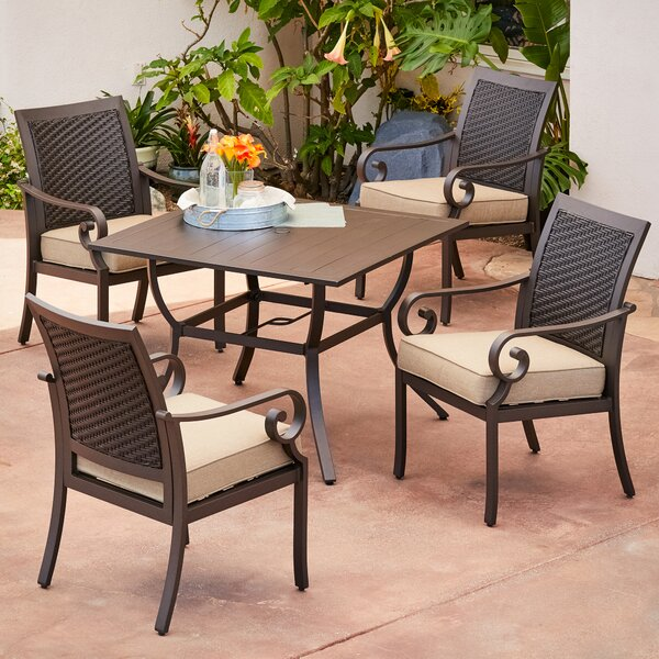 Kingston Seymour Milano 5 Piece Dining Set With Cushions by Bayou Breeze