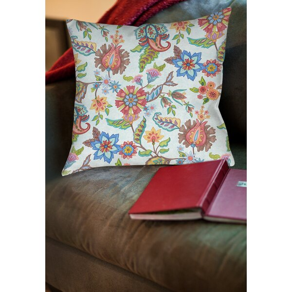 Shangri La Floral Printed Throw Pillow By Manual Woodworkers & Weavers.