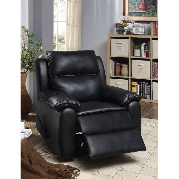 Melcher Faux Leather Manual Recliner W000116839