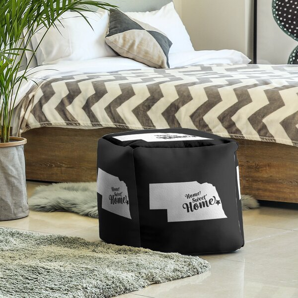 Home Sweet Omaha Cube Ottoman By East Urban Home