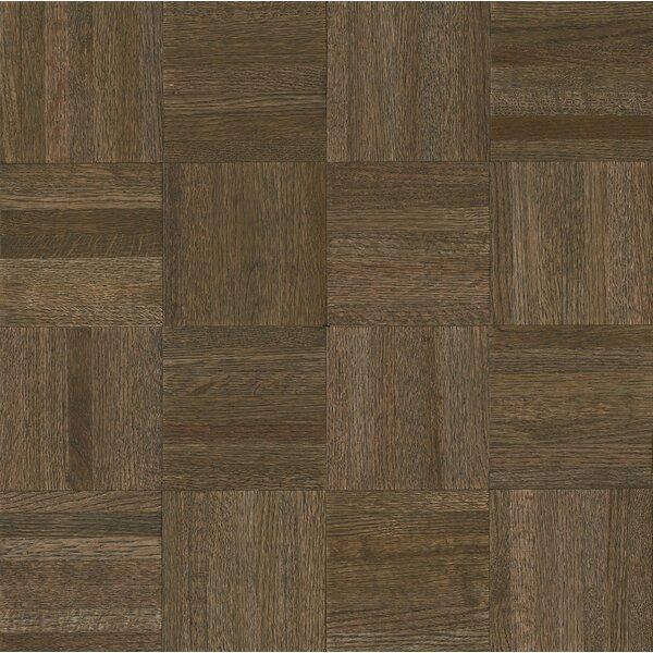 Millwork 12 Solid Oak Parquet Hardwood Flooring in Oceanside Gray by Armstrong Flooring